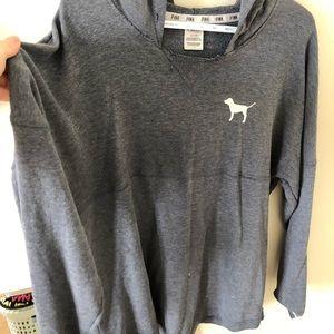 PINK long-sleeved lounge hoodie